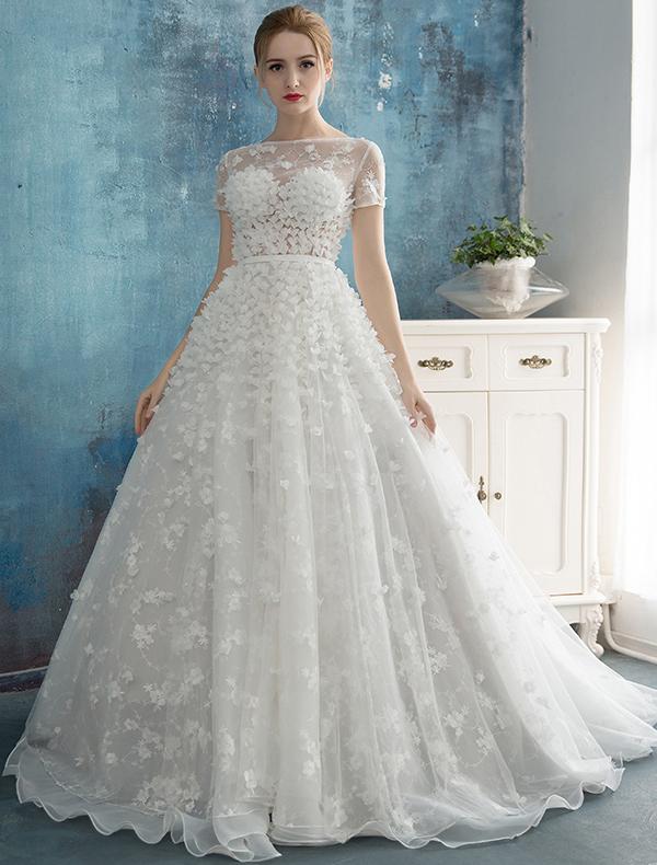 A Line Wedding Dresses Princess Bridal Gowns