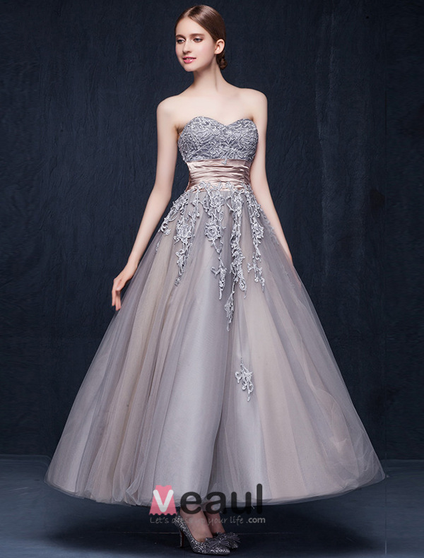 Ball Gown Wedding Dresses With Color : Ball gown sweetheart appliques lace ruffle sash organza