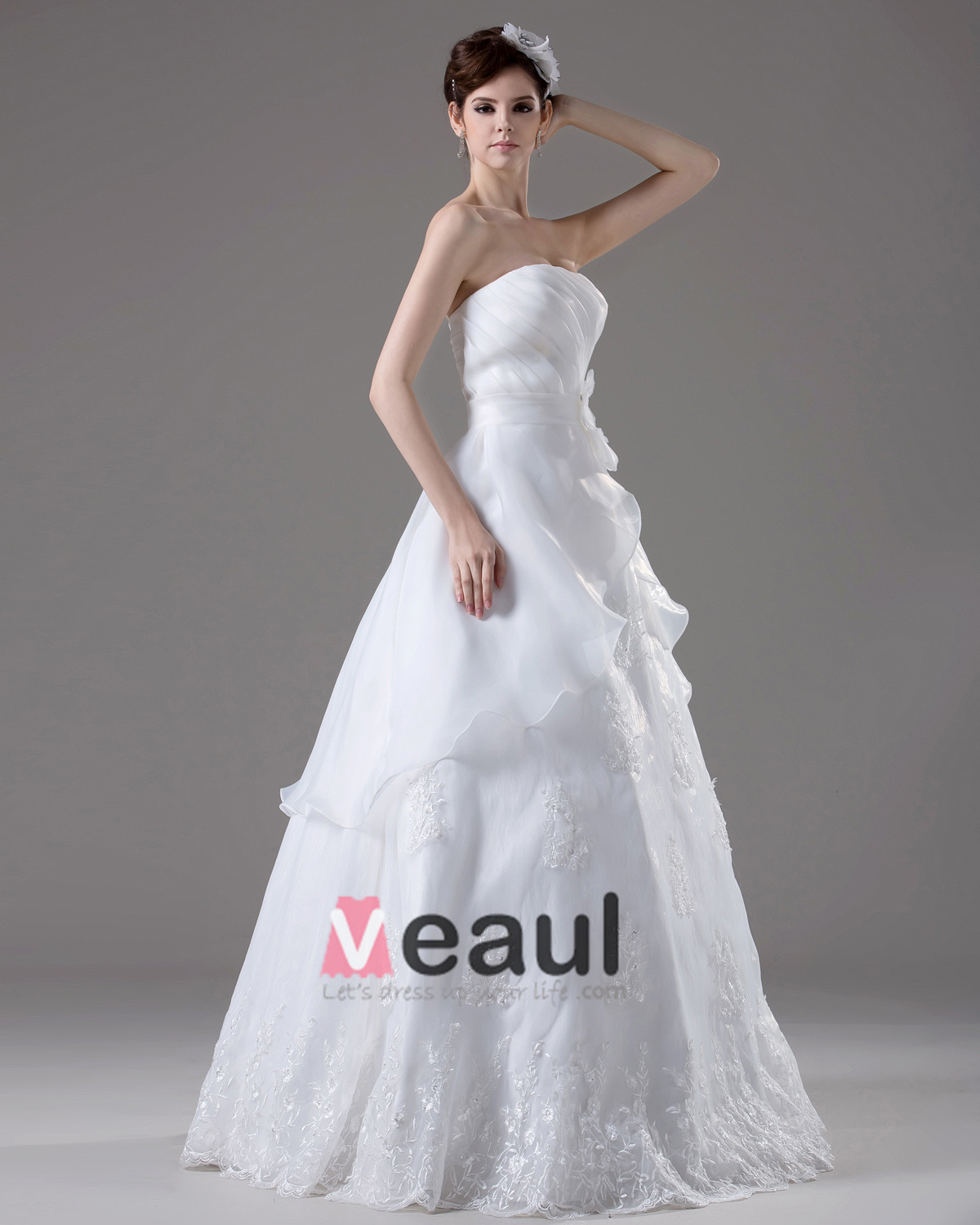 Dresses ball gown wedding dresses strapless embroidery beading pleated