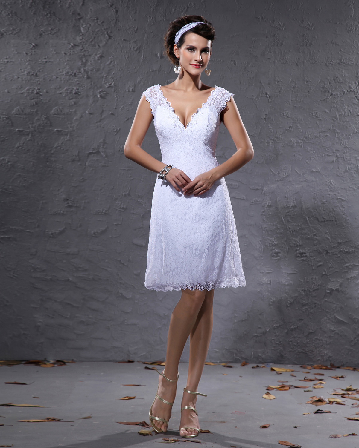 short wedding dresses mini knee length