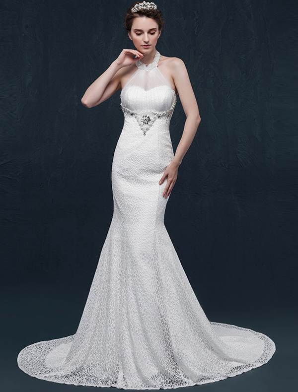 wedding dresses trumpet mermaid wedding dresses mermaid halter beading