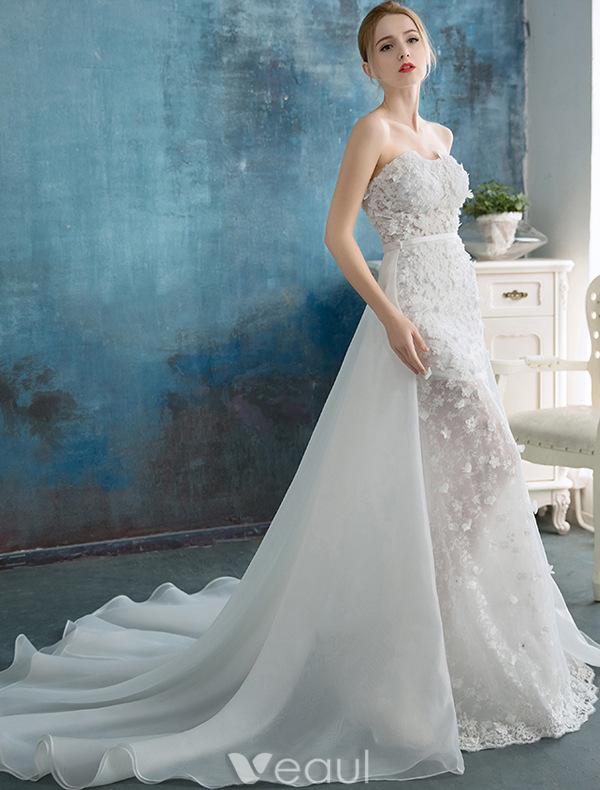 Short Mermaid Beach Wedding Dresses - Expensive Wedding Dresses Online
