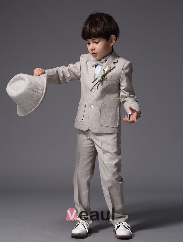 Flaxen Ring Bearer Wedding Suits 4 Sets Boy Suits