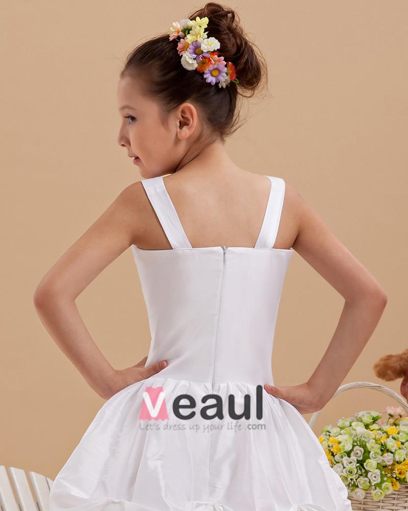 fashion taffeta flower girl dresses