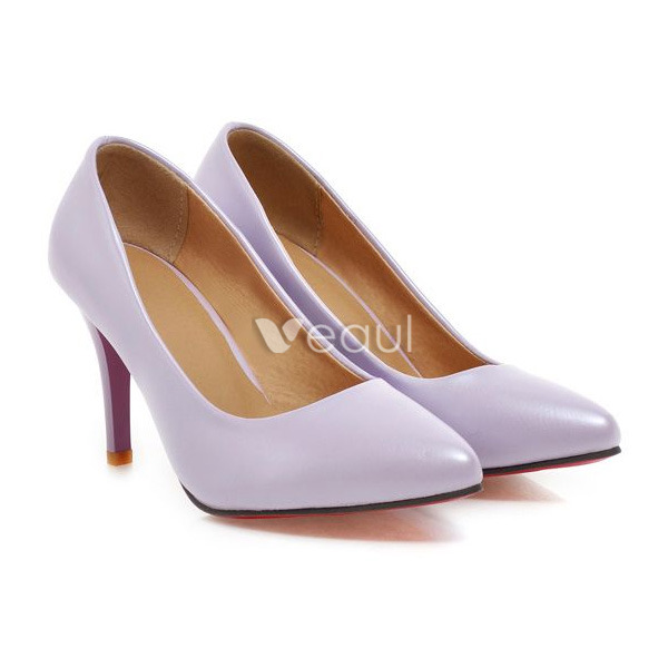 classic patent leather blue pumps 3 inch stiletto heel