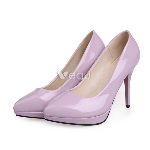 Classic Patent Leather Pumps 4 Inch Stiletto Heels Womens Shoes High Heels