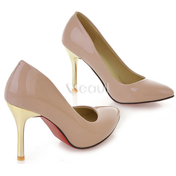 Elegant Patent Leather Black Pumps 9 cm High Heels Womens ...