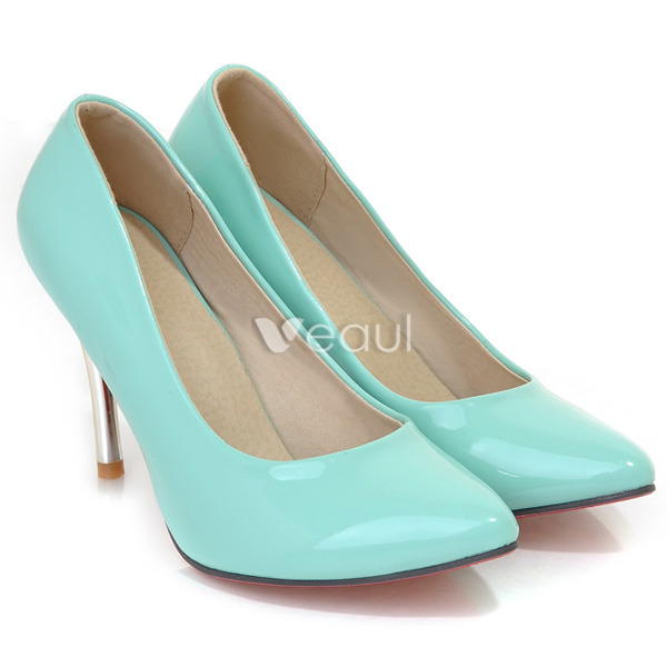 Elegant Patent Leather Black Pumps 9 cm High Heels Womens Shoes Stiletto Heels