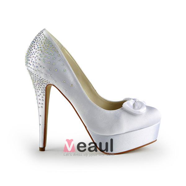 classic high heels bridal shoes rhinestone stilettos pumps