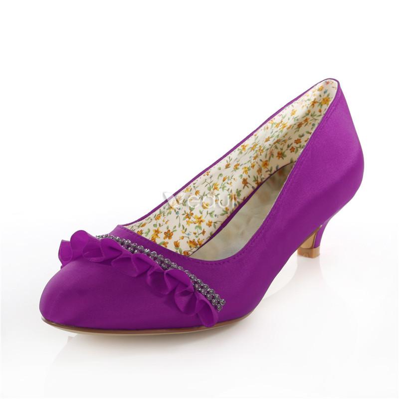 purple kitten heel wedding shoes - The Cutest Kittens