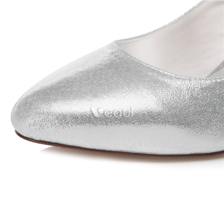 sparkly bridal shoes silver formal shoes pumps with ankle