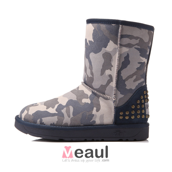 Fashion Women's Camouflage Winter Snow Boots