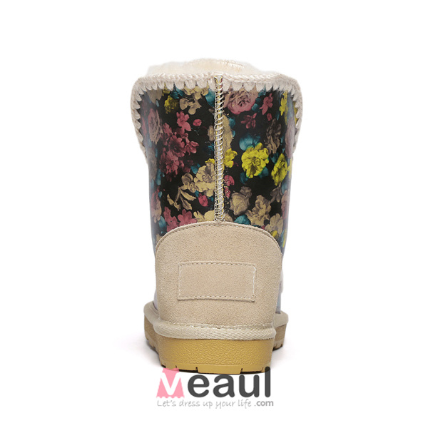 Women's Fashion Crystal Rhinestone Wool Winter Snow Boots
