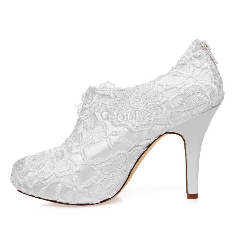 Botas De Tobillo De Lujo De Novia 2016 Tacón De Aguja Zapatos De Tacón Alto De