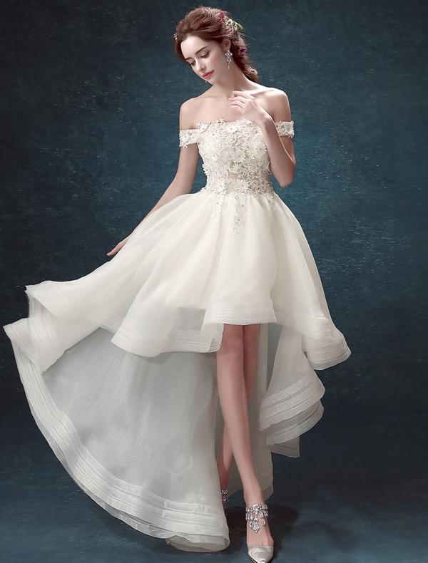 Brautkleid Kurz, Kurze Hochzeitskleider, Kurzes Brautkleider - Veaul ...