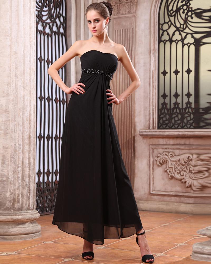 Schöne Chiffon Bodenlange Brautjungfernkleider Trauzeugin Kleid
