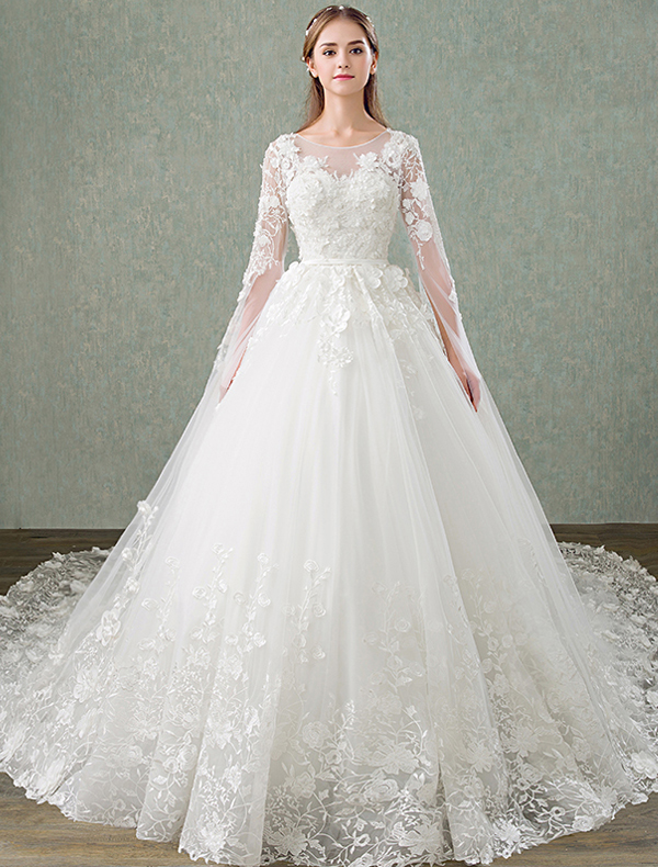 robe de mari e dentelle princesse 2017