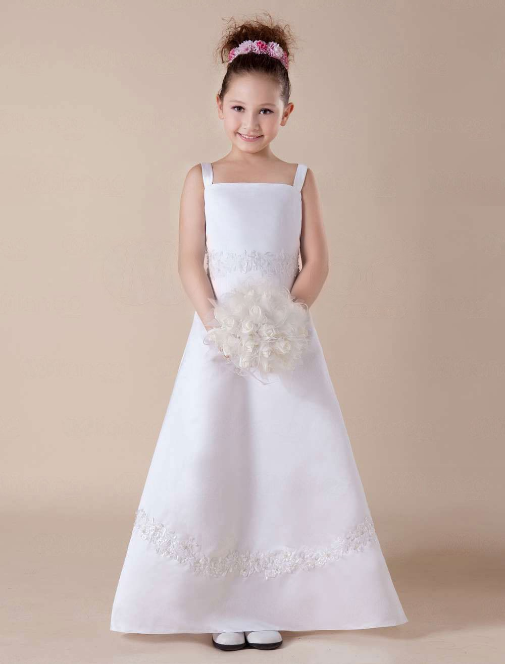 Satin Flower Girl Dresses Flower Girl Dresses