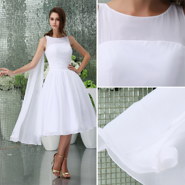 Simple A-line Shoulders Short Wedding Dress Bridal Gown ...