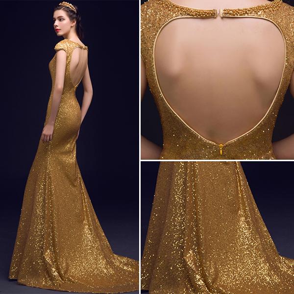 428a2564fb8 Robe de soirée longue dorée acheter robe soirée