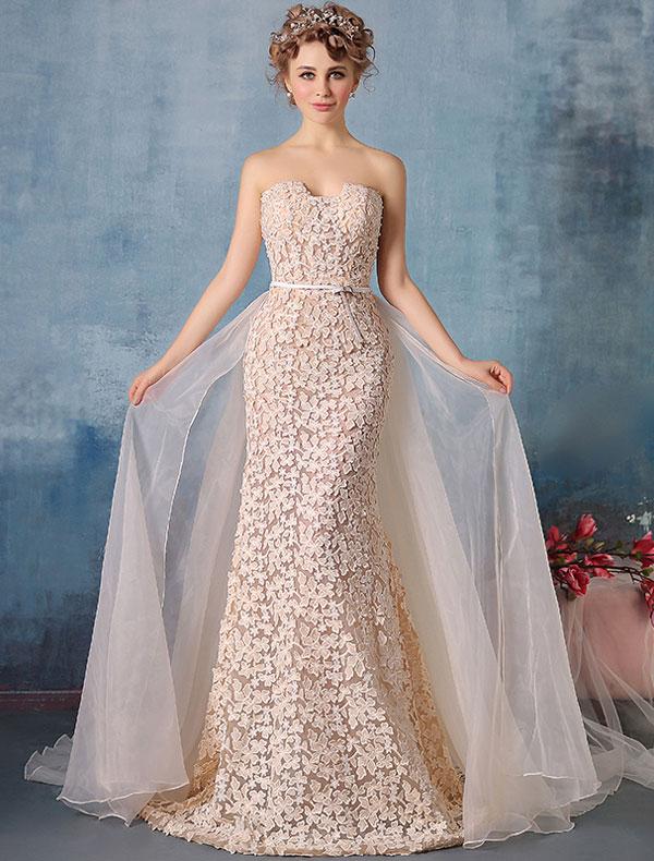 Robe de soiree pour mariage couleur champagne la mode for Robes de dames designer pour mariage