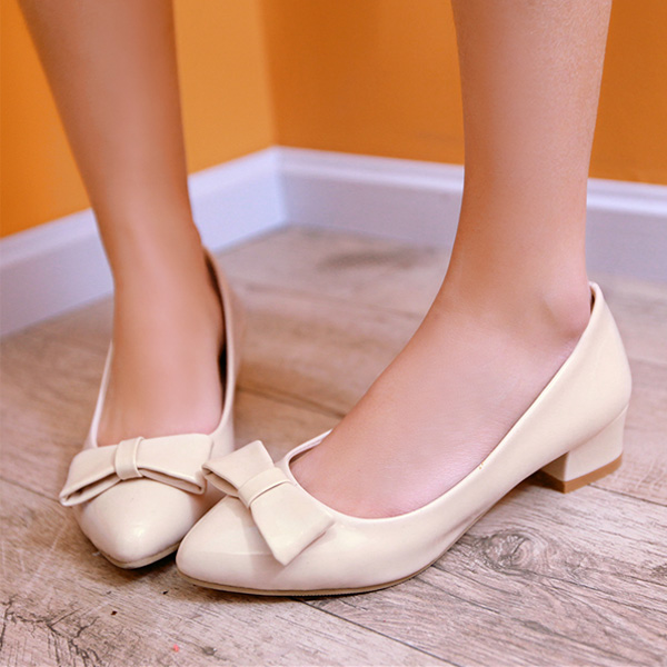 Beautiful Nude Pumps Patent Leather Kitten Heels Womens Shoes ...