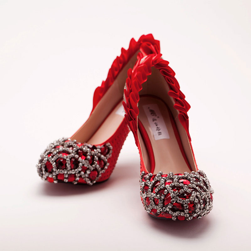 Red Wedding Shoes, Bridal Shoes, Cheap Wedding Shoes Online ...