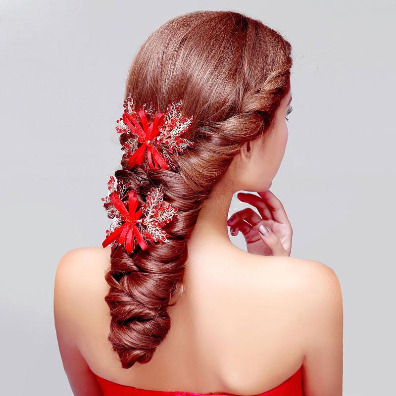 accessoires cheveux mariage rouge. Black Bedroom Furniture Sets. Home Design Ideas