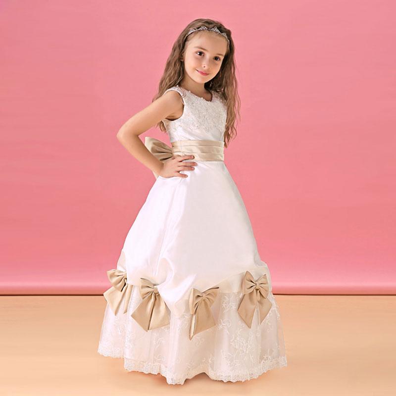 Robe fille blanche a fleur - Achat / Vente Robe fille