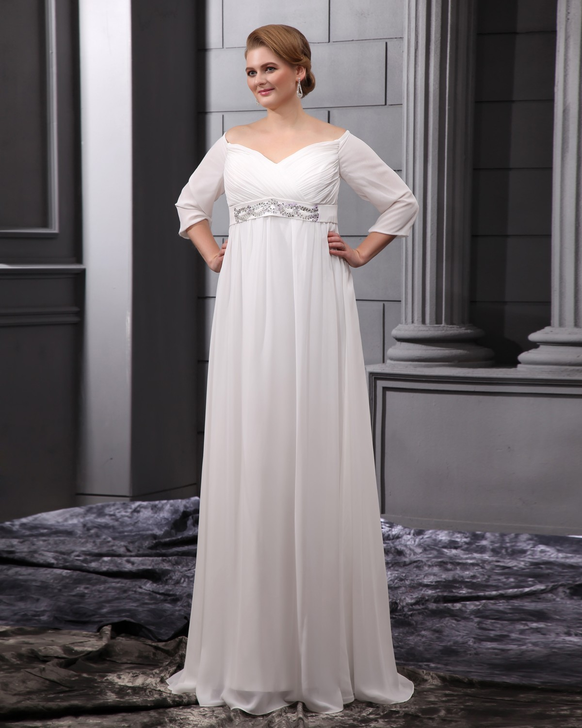 Plus Size Empire Waist Wedding Dresses With Sleeves - Gomes Weine AG