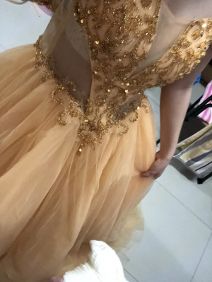 I loved the style of this dress very much and the color was exact as shown in the picture!