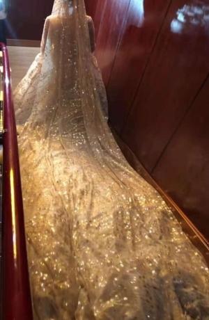 My sparkle wedding dress